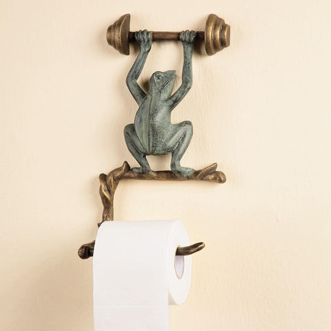 Weightlifting Frog - Toilet Tissue Holder (Wall Mount)