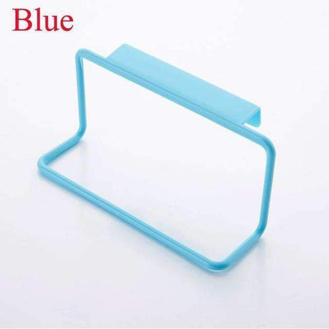 1Pc Over Door Tea Towel Holder Rack Rail Cupboard Hanger Bar Hook Bathroom Kitchen Top Home