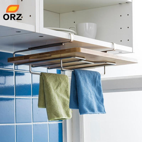Kitchen Towel Holder & Cutting Board Rack