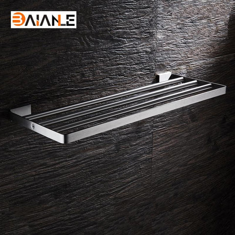 Bathroom Towel Rack Stainless Steel Brushed WallMount Towel Holder Towel Shelf Acessorios