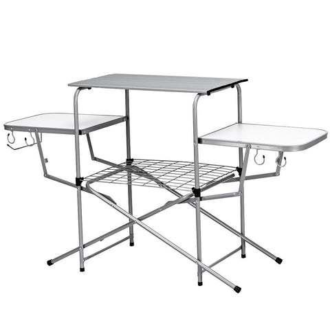 Foldable Camping Outdoor Kitchen Grilling Stand BBQ Table