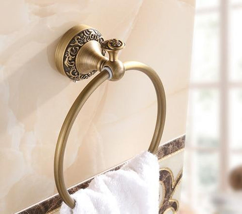 Art Carved Bathroom Towel Ring