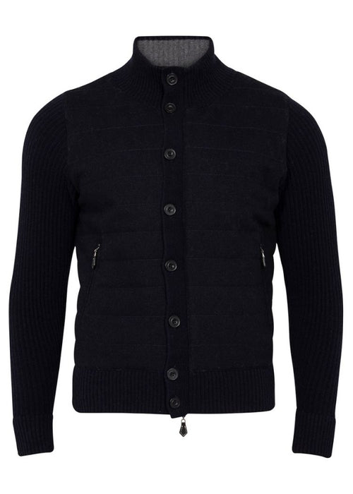 Mennock Men's English Explorer Mock Neck Jacket In Navy - Updated Fit