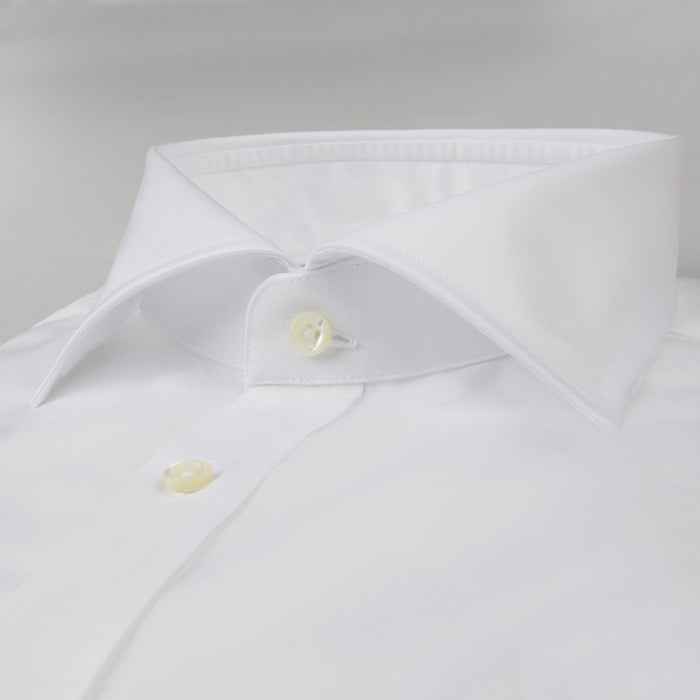 White Classic Fit Shirt In Superior Twill