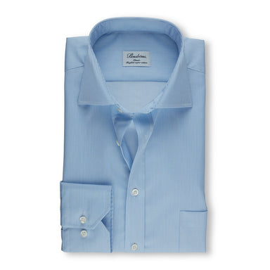 Blue Pinstriped Classic Fit Shirt
