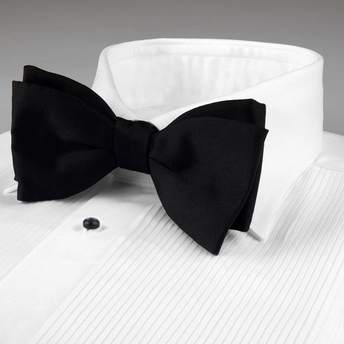 White Fitted Body Tuxedo Shirt