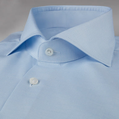 Light Blue Pinstriped Slimline Shirt