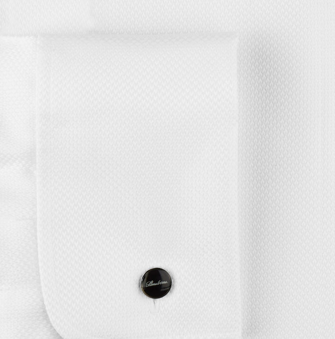 Stenstroms, Always in Stock, Slimline, Tuxedo Shirt, White Fly Front Pique Classic Collar