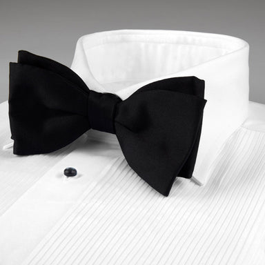 White Slimline Tuxedo Shirt With Classic Collar