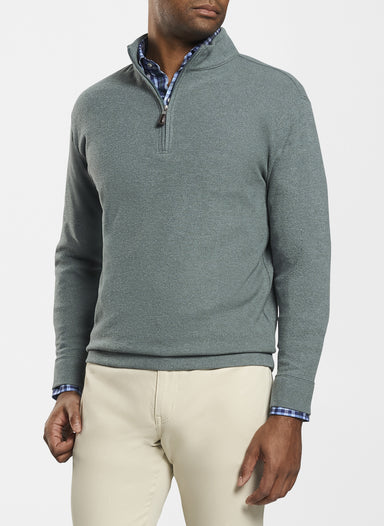 Tri-Blend Melange Fleece Quarter-Zip - Lacinato