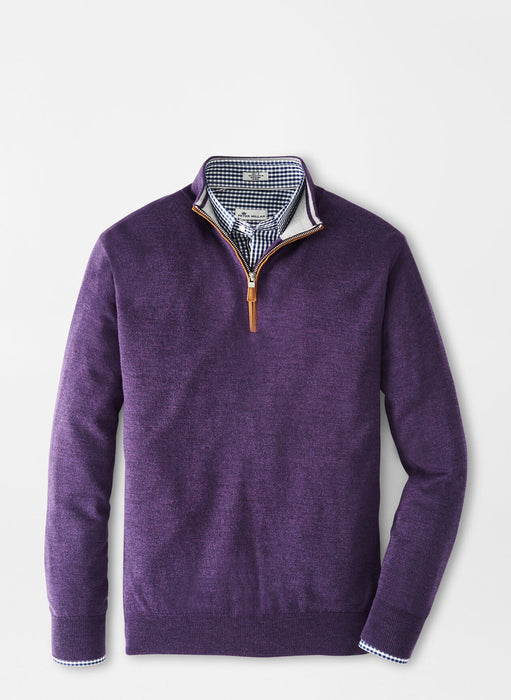 Crown Soft Suede Trim Quarter-Zip