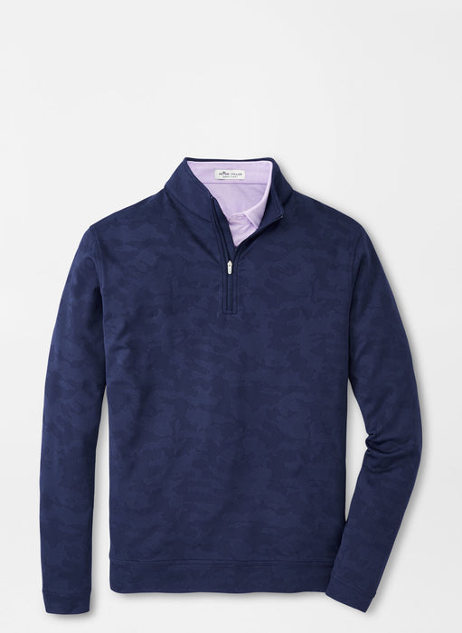 Camo Jacquard Perth Performance Pullover - NAVY