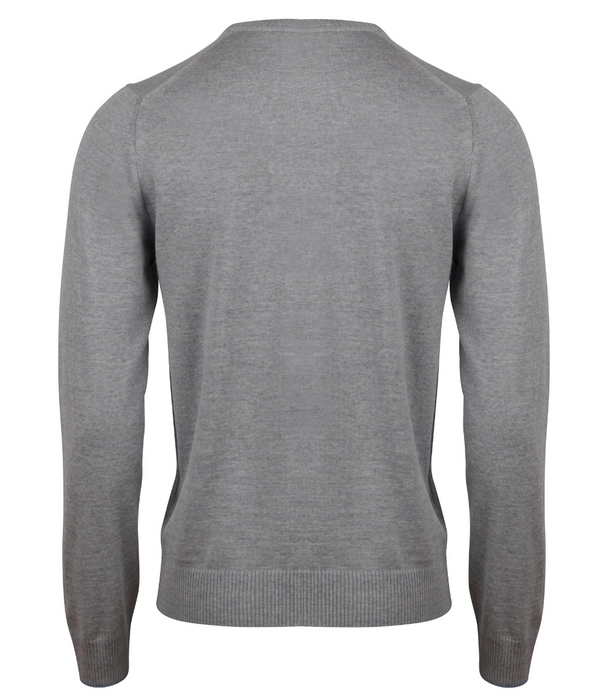 Grey Merino Wool College Crew