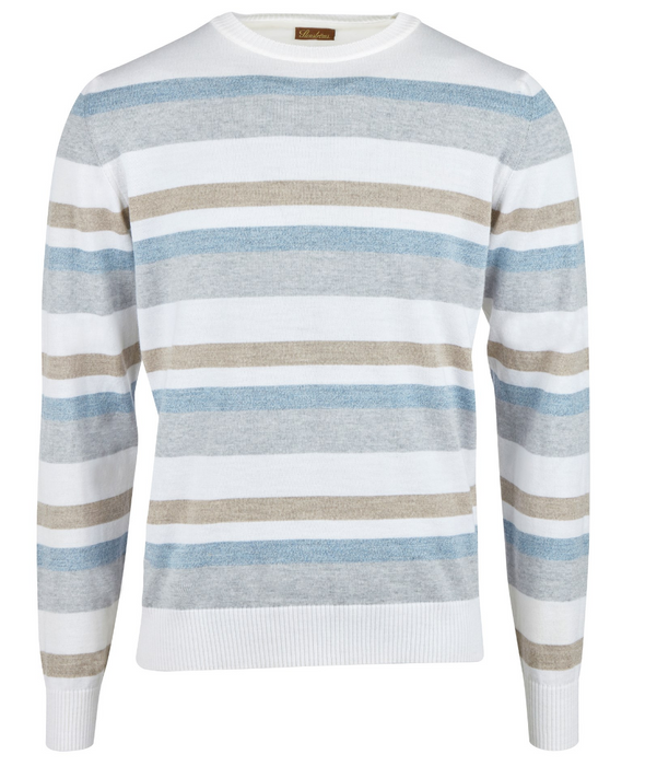 Striped Merino Crew Neck