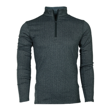 HERRINGBONE TATE QUARTER ZIP - BLACK