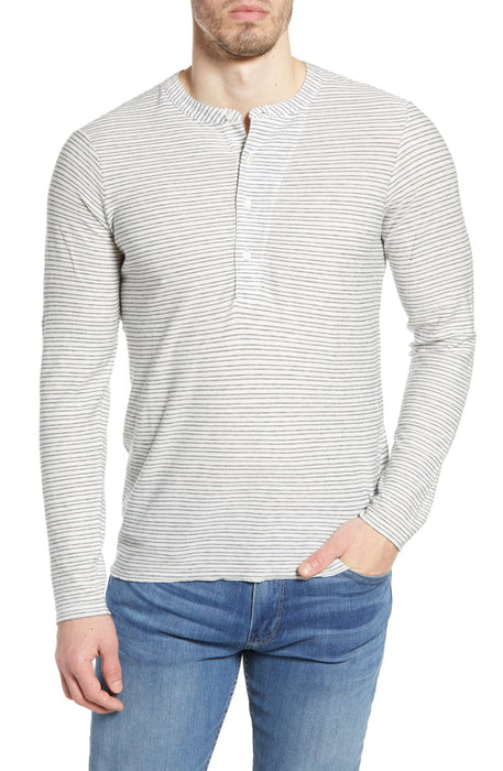 Striped Louis Henley - Natural