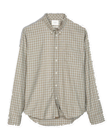 Tuscumbia Button Down Shirt-Grey Moss