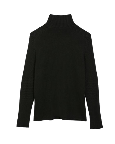 Cashmere Turtleneck-Black