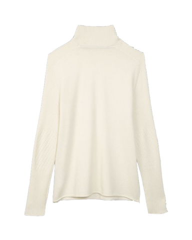 Cashmere Turtleneck-Natural