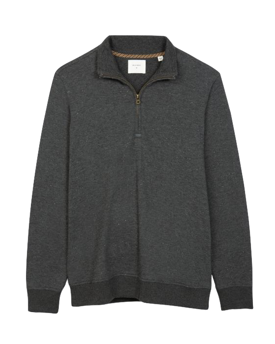 Donegal Half Zip-Charcoal