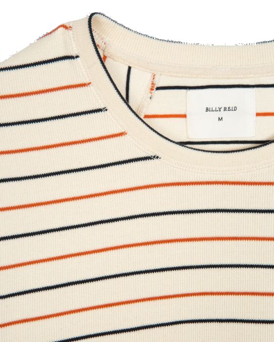 Ribbed Stripe Crew-Natural