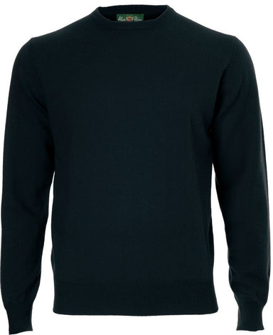 Melfort Cashmere Crew Neck Jumper In Dark Navy - Updated Fit
