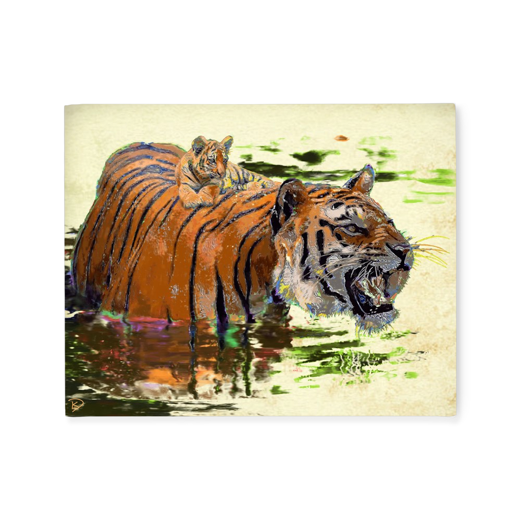 Tiger Canvas Print Tiger Cub