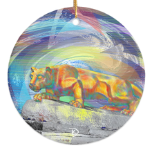 Load image into Gallery viewer, Penn State Christmas Ornament Lion Statue Christmas Ornament PSU Christmas Penn State Ornament