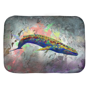 Blue Whale Bath Mat Shower Mat Bathroom Decor Bathroom Art Animal Art Bath Rug Floor Mat