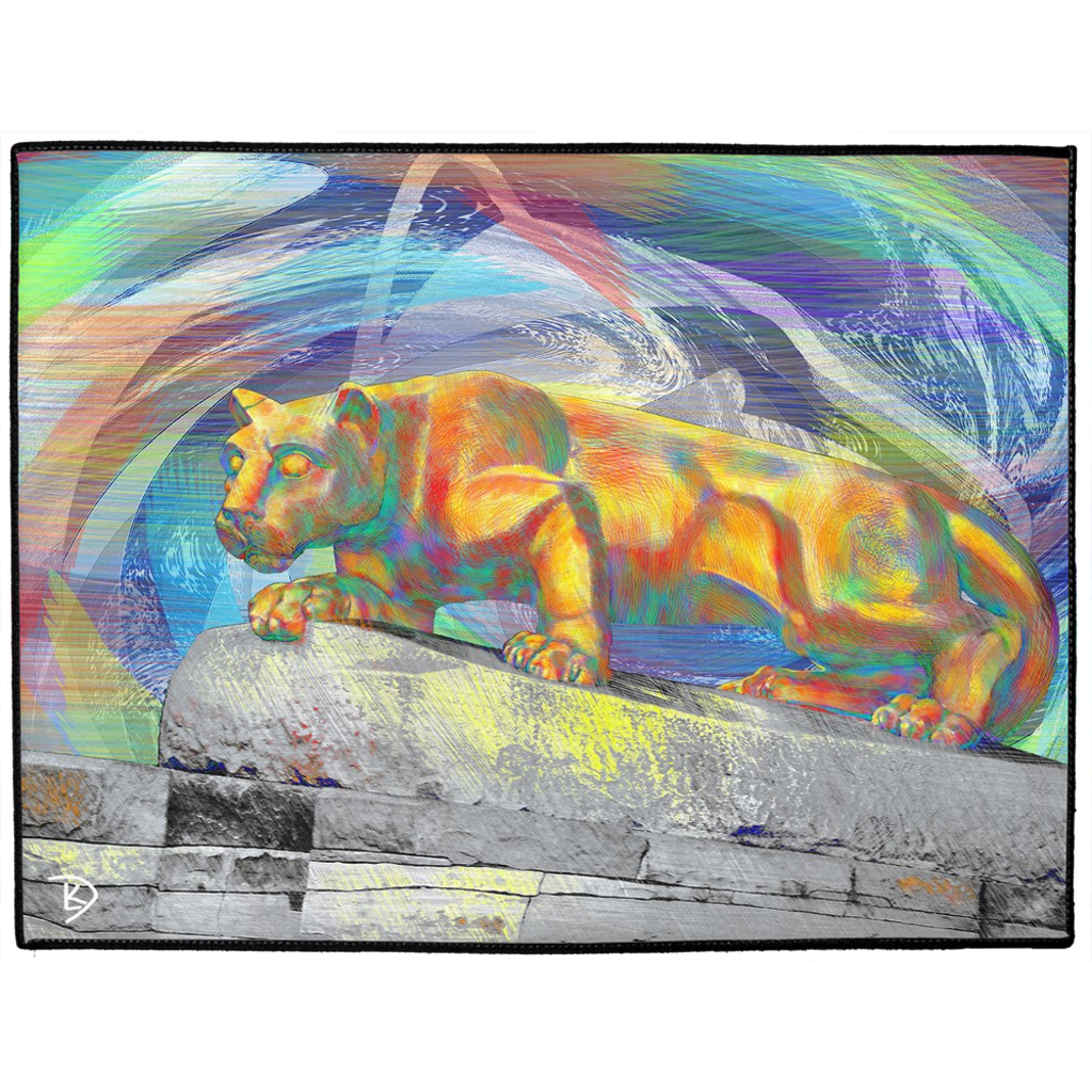 Penn State Decor PSU Rug Nittany Lion Living Room Rug