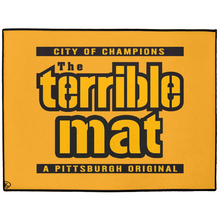 Load image into Gallery viewer, Terrible Mat Pittsburgh Indoor/Outdoor Floor Mats Rug Door Mat Play Mat Man Cave