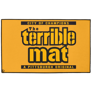Terrible Mat Pittsburgh Indoor/Outdoor Floor Mats Rug Door Mat Play Mat Man Cave