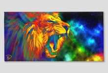 Load image into Gallery viewer, Lion Space Wall Art Lion Canvas Print