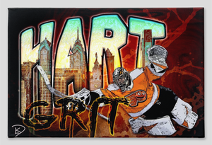 Carter Hart Canvas Print Hockey Gift Man Cave
