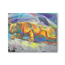 Load image into Gallery viewer, Lion Statue Canvas Wall Art Penn State Decor