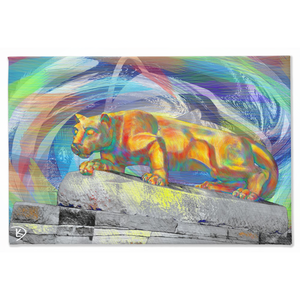 Lion Statue Canvas Wall Art Penn State Decor