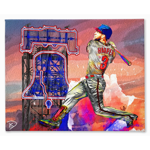 Bryce Harper Canvas Man Cave Wall Art
