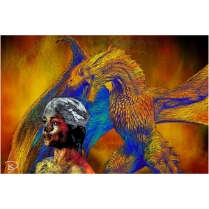 Game of Thrones Poster Dragon Wall Art Dragon Decor Canvas Posters