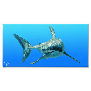 Shark Art Great White Shark Canvas Shark Wall Art