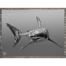 Load image into Gallery viewer, Great White Shark Blanket Shark Woven Blankets Shark Decor