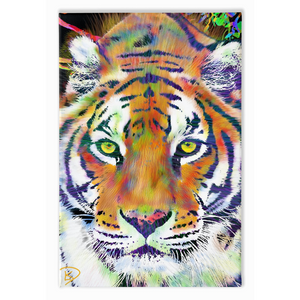 Colorful Tiger Painting Colorful Animal Art