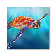 Load image into Gallery viewer, Sea Turtle Painting Turtle Gifts Sea Turtle Print Turtle Wall Art