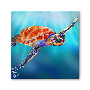 Sea Turtle Painting Turtle Gifts Sea Turtle Print Turtle Wall Art