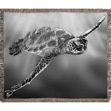 Load image into Gallery viewer, Sea Turtle Blanket Turtle Woven Blankets Turtle Decor