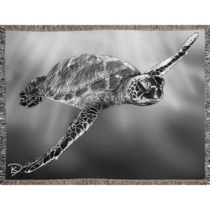 Sea Turtle Blanket Turtle Woven Blankets Turtle Decor