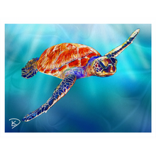 Load image into Gallery viewer, Sea Turtle Blanket Turtle Gifts Fleece Sherpa Blankets