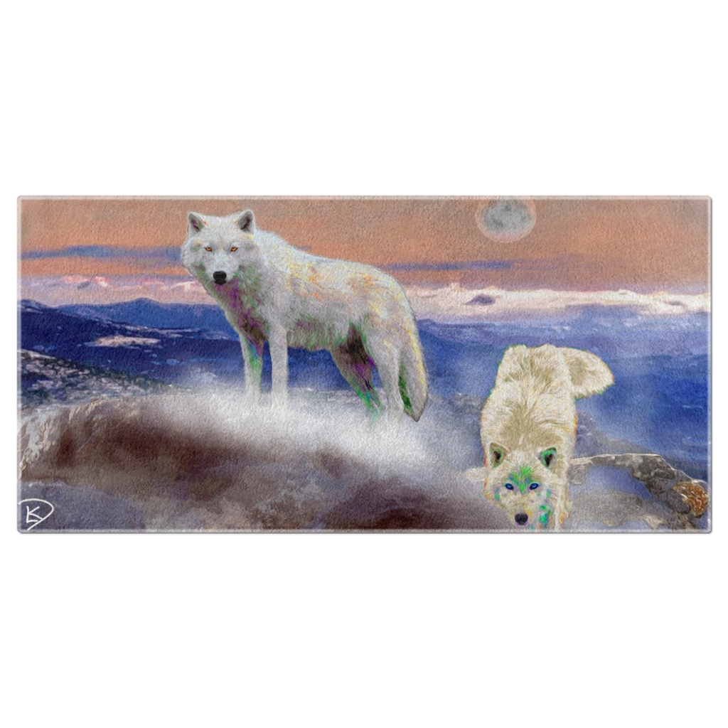 Wolf Decor Beach Towel