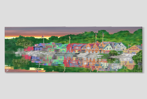 Boathouse Row Canvas Panoramic Philadelphia Decor