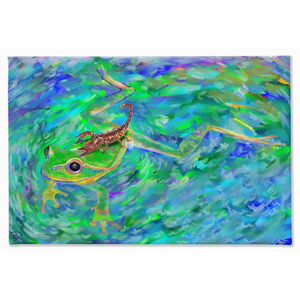 Frog Scorpion Canvas Print Frog Gifts