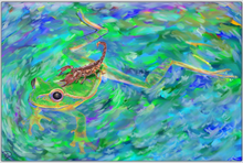 Load image into Gallery viewer, Frog Print Aluminum Print Frog Gifts Metal Print